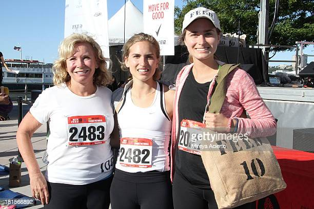 Sharon Smith Ashley Bush and Lauren Bush attend the 2nd annual RUN10 FEED10 at Pier 84 on September 22 2013 in New York City