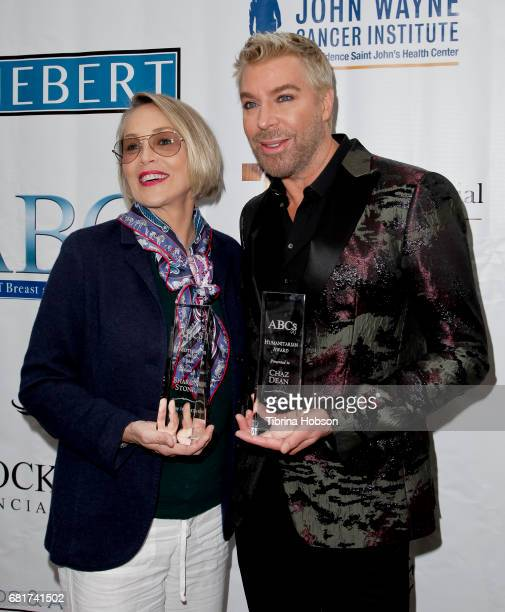 Sharon Stone and Chaz Dean attend The Associates for Breast and Prostate Cancer Studies annual Mother's Day Luncheon at Four Seasons Hotel Los...