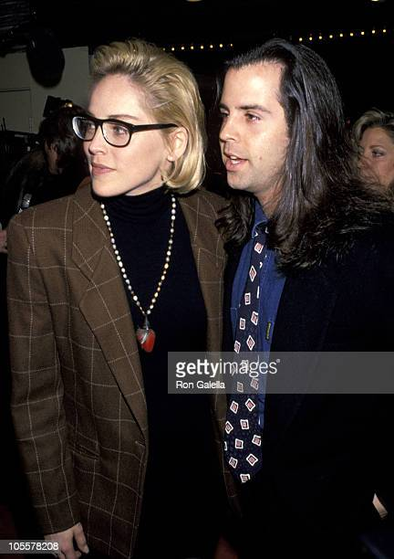 Sharon Stone and Chris Peters during 'Somersby' Westwood Premiere at Mann's Bruin Theater in Westwood California United States