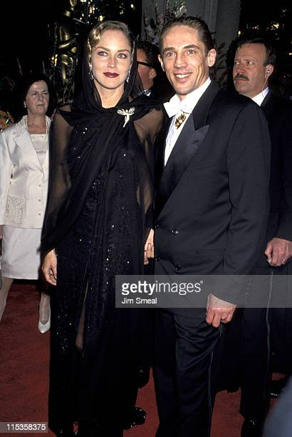 Sharon Stone and Michael Stone during 66th Annual Academy Awards at Dorothy Chandler Pavillion in Los Angeles CA United States