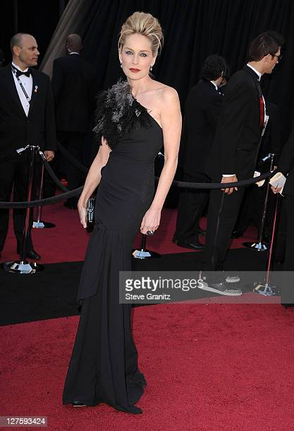 Sharon Stone arrive at the 83rd Annual Academy Awards at the Kodak Theatre on February 27 2011 in Hollywood California
