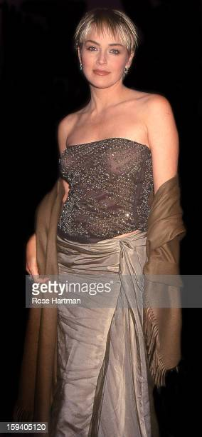 Sharon Stone at a Lincoln Center gala New York New York 1995