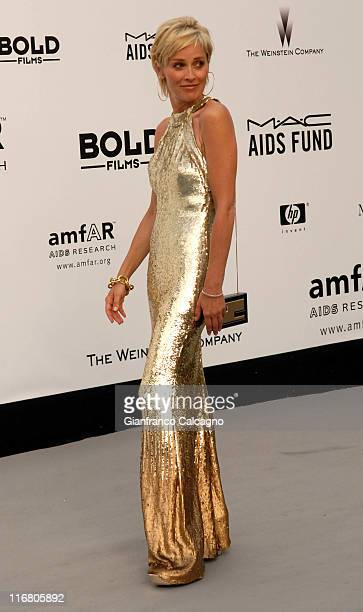 Sharon Stone at amfAR's Cinema Against AIDS event presented by Bold Films the M*A*C AIDS Fund and The Weinstein Company to benefit amfAR