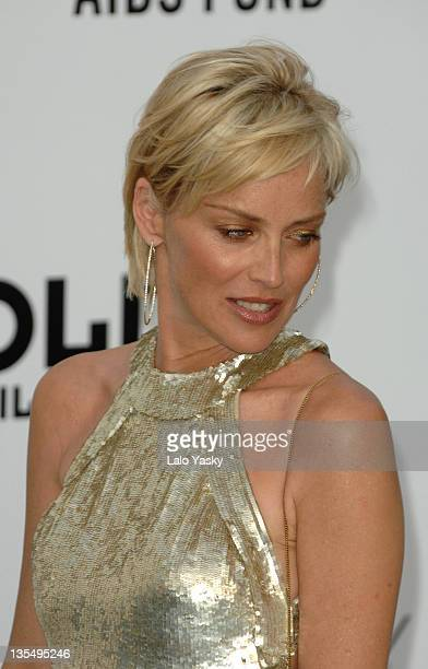 Sharon Stone at amfAR's Cinema Against AIDS event presented by Bold Films the M•A•C AIDS Fund and The Weinstein Company to benefit amfAR