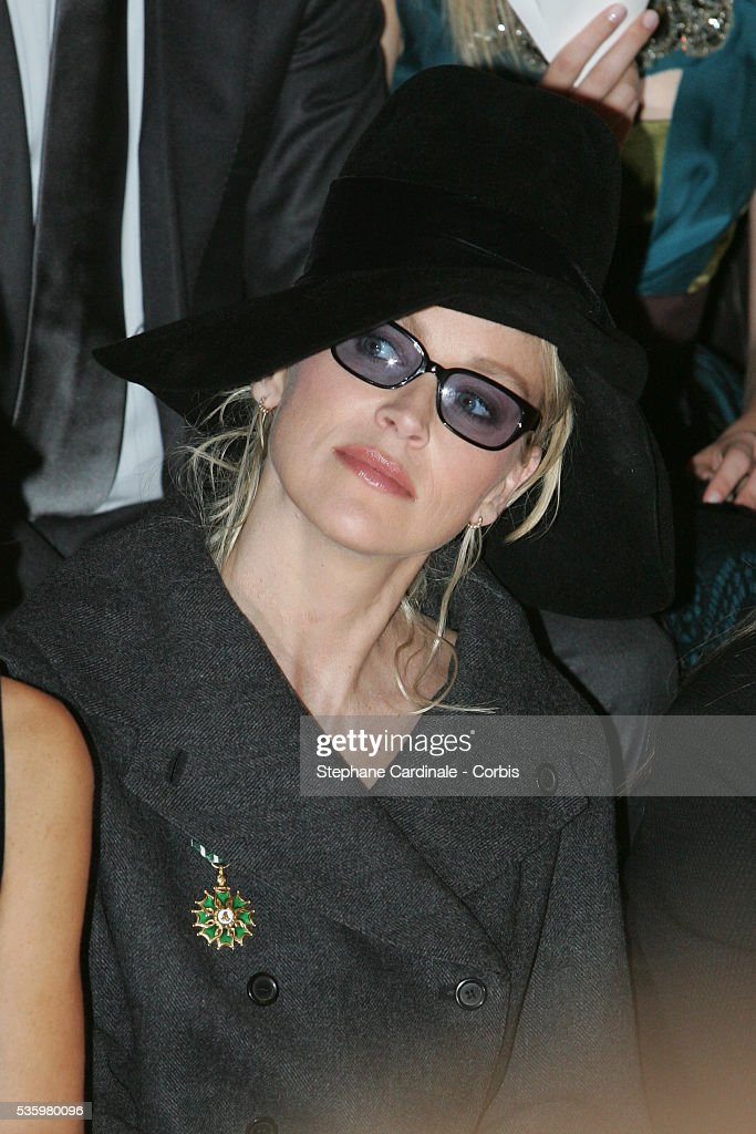 Sharon Stone at the 'Louis Vuitton ready-to-wear Spring-Summer 2006 collection' fashion show.