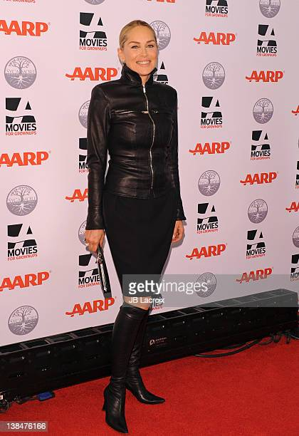 Sharon Stone attends AARP Magazine's 11th Annual Movies for Grownups Awards Gala at the Beverly Wilshire Four Seasons Hotel on February 6 2012 in...