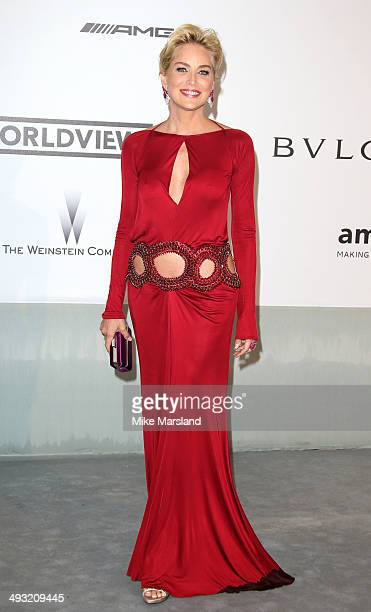 Sharon Stone attends amfAR's 21st Cinema Against AIDS Gala Presented By WORLDVIEW BOLD FILMS And BVLGARI at the 67th Annual Cannes Film Festival on...