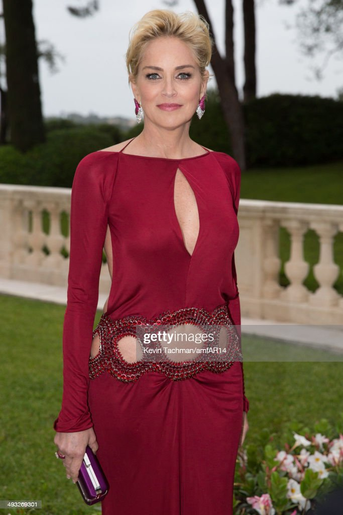 <a gi-track='captionPersonalityLinkClicked' href=/galleries/search?phrase=Sharon+Stone&family=editorial&specificpeople=156409 ng-click='$event.stopPropagation()'>Sharon Stone</a> attends amfAR's 21st Cinema Against AIDS Gala Presented By WORLDVIEW, BOLD FILMS, And BVLGARI at Hotel du Cap-Eden-Roc on May 22, 2014 in Cap d'Antibes, France.