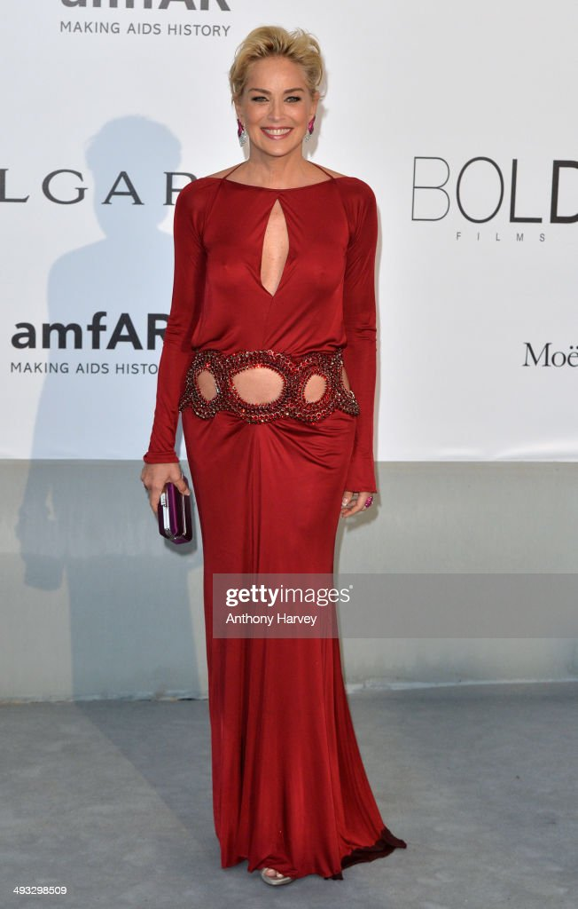 <a gi-track='captionPersonalityLinkClicked' href=/galleries/search?phrase=Sharon+Stone&family=editorial&specificpeople=156409 ng-click='$event.stopPropagation()'>Sharon Stone</a> attends amfAR's 21st Cinema Against AIDS Gala, Presented By WORLDVIEW, BOLD FILMS, And BVLGARI at the 67th Annual Cannes Film Festival on May 22, 2014 in Cap d'Antibes, France.