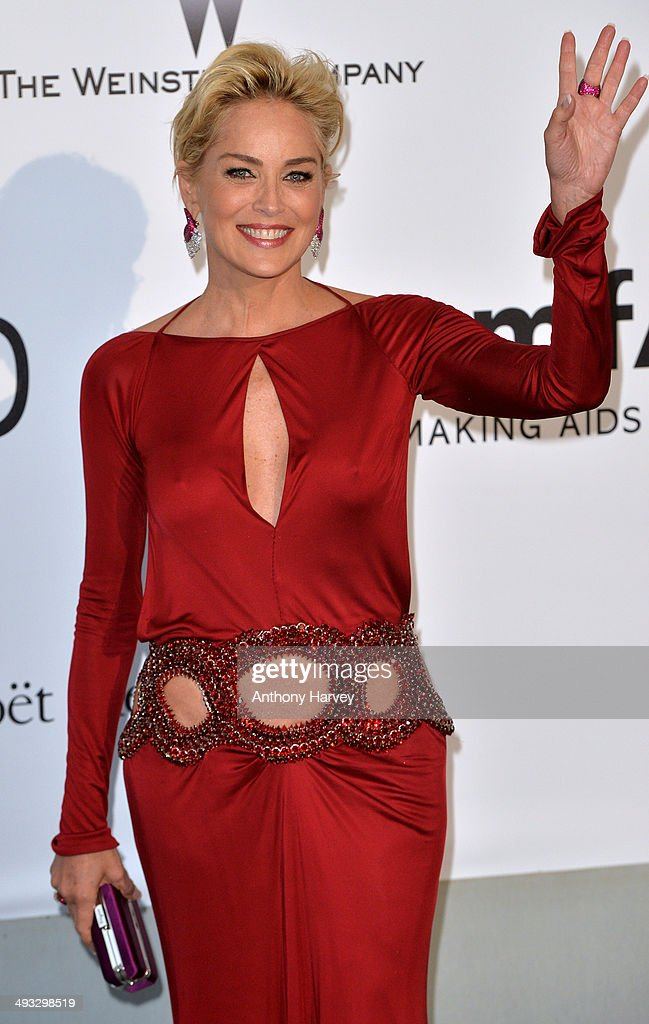 Sharon Stone attends amfAR's 21st Cinema Against AIDS Gala, Presented By WORLDVIEW, BOLD FILMS, And BVLGARI at the 67th Annual Cannes Film Festival on May 22, 2014 in Cap d'Antibes, France.