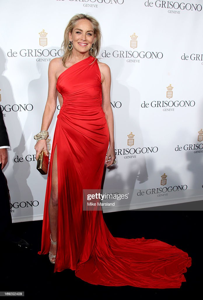 Sharon Stone attends De Grisogono party during The 66th Annual Cannes Film Festival on May 21, 2013 in Cannes, France.
