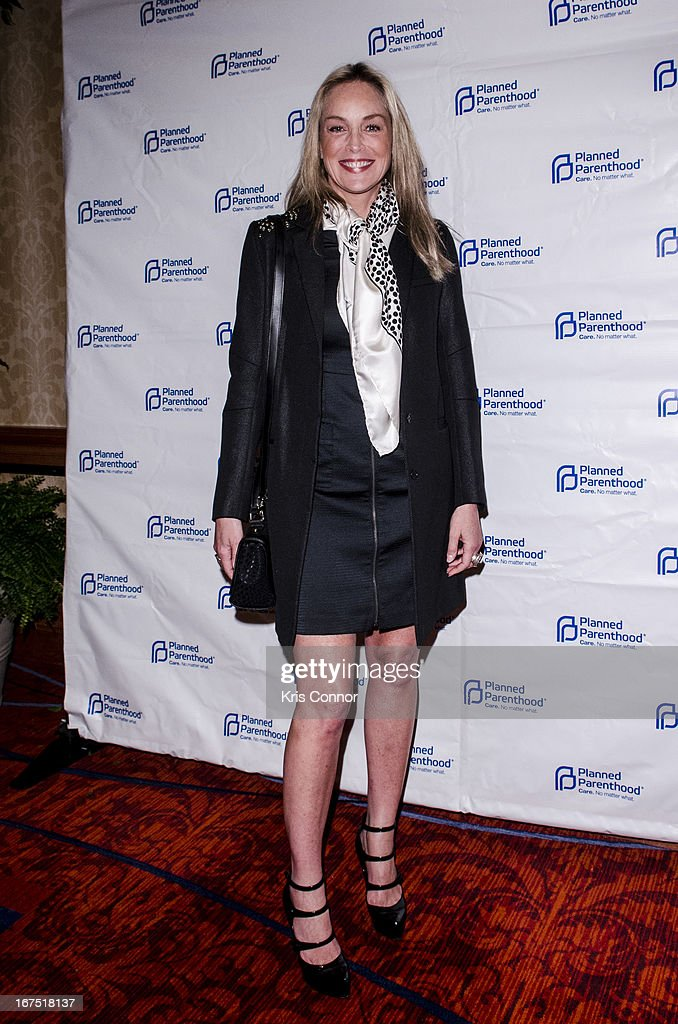 Sharon Stone attends Planned Parenthood Federation of America's VIP Reception at the Marriott Wardman Park Hotel on April 25, 2013 in Washington, DC. (Photo by Kris Connor/Getty Image