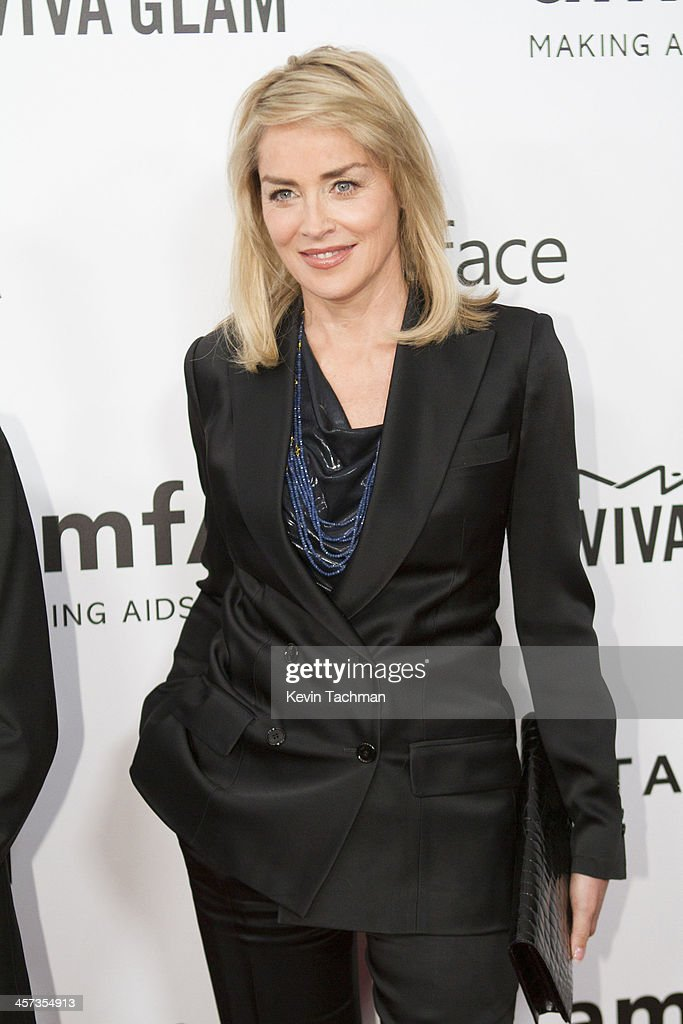 Sharon Stone attends the 2013 amfAR Inspiration Gala Los Angeles at Milk Studios on December 12, 2013 in Los Angeles, California.