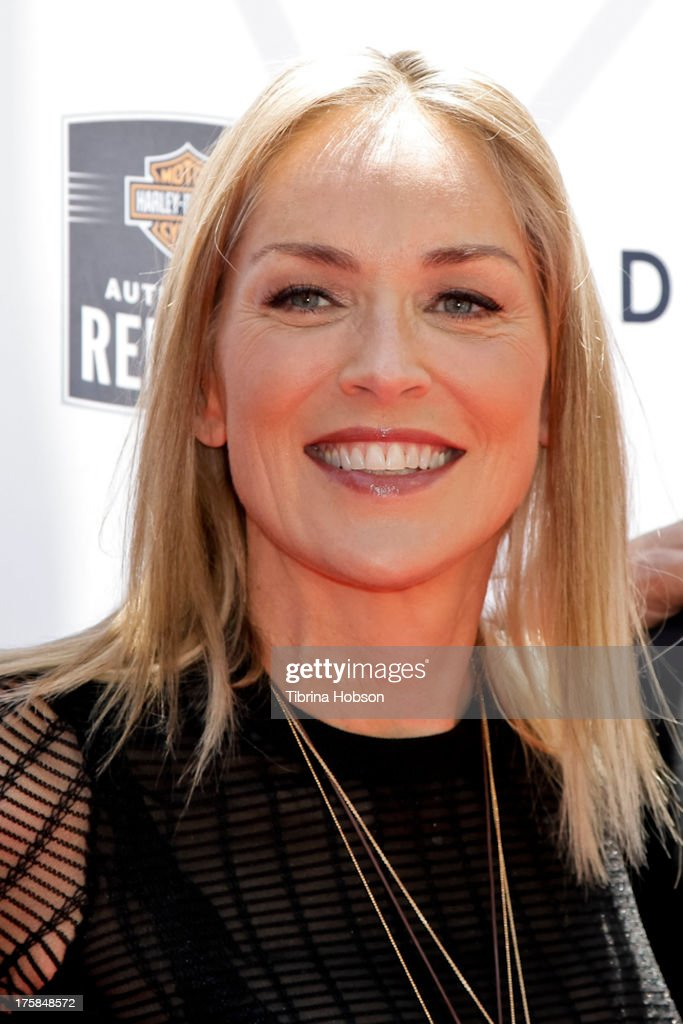 <a gi-track='captionPersonalityLinkClicked' href=/galleries/search?phrase=Sharon+Stone&family=editorial&specificpeople=156409 ng-click='$event.stopPropagation()'>Sharon Stone</a> attends the 4th annual Kiehl's LifeRide for amfAR at The Grove on August 8, 2013 in Los Angeles, California.