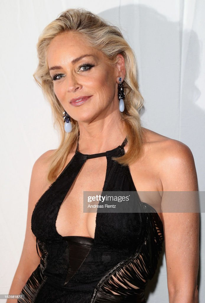 <a gi-track='captionPersonalityLinkClicked' href=/galleries/search?phrase=Sharon+Stone&family=editorial&specificpeople=156409 ng-click='$event.stopPropagation()'>Sharon Stone</a> attends the amfAR Milano 2012 Cocktail Reception during Milan Fashion Week at La Permanente on September 22, 2012 in Milan, Italy.