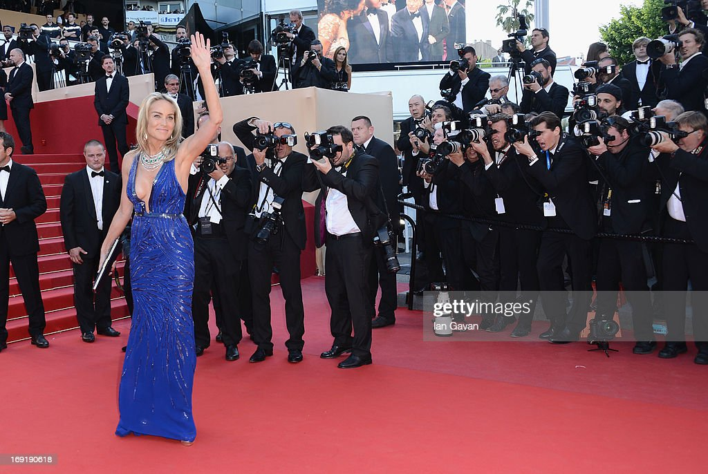 <a gi-track='captionPersonalityLinkClicked' href=/galleries/search?phrase=Sharon+Stone&family=editorial&specificpeople=156409 ng-click='$event.stopPropagation()'>Sharon Stone</a> attends the 'Behind The Candelabra' Premiere during the 66th Annual Cannes Film Festival at Grand Theatre Lumiere on May 21, 2013 in Cannes, France.