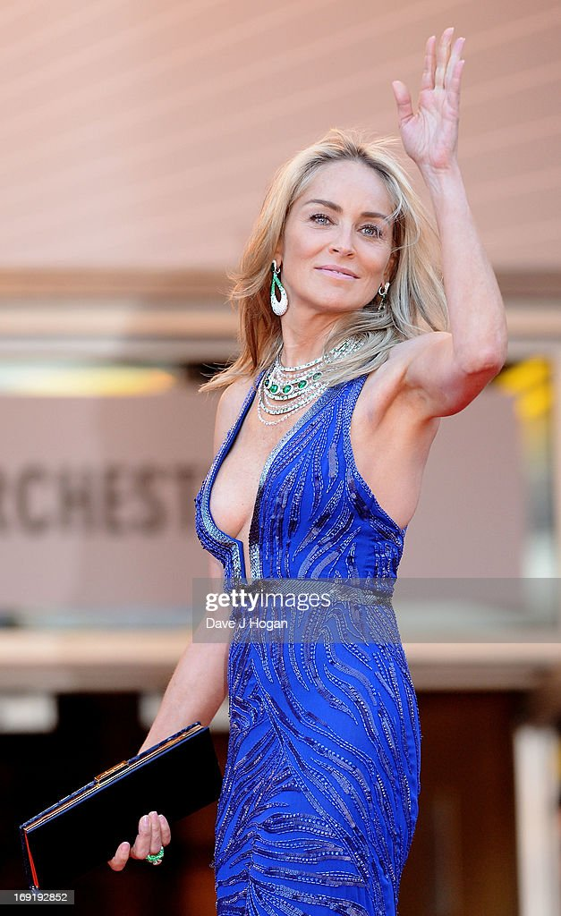 Sharon Stone attends the 'Behind The Candelabra' Premiere during the 66th Annual Cannes Film Festival at Grand Theatre Lumiere on May 21, 2013 in Cannes, France.
