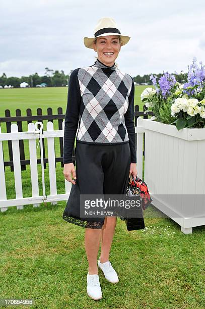 Sharon Stone attends the Cartier Queen's Cup final at Guards Polo Club on June 16 2013 in Egham England