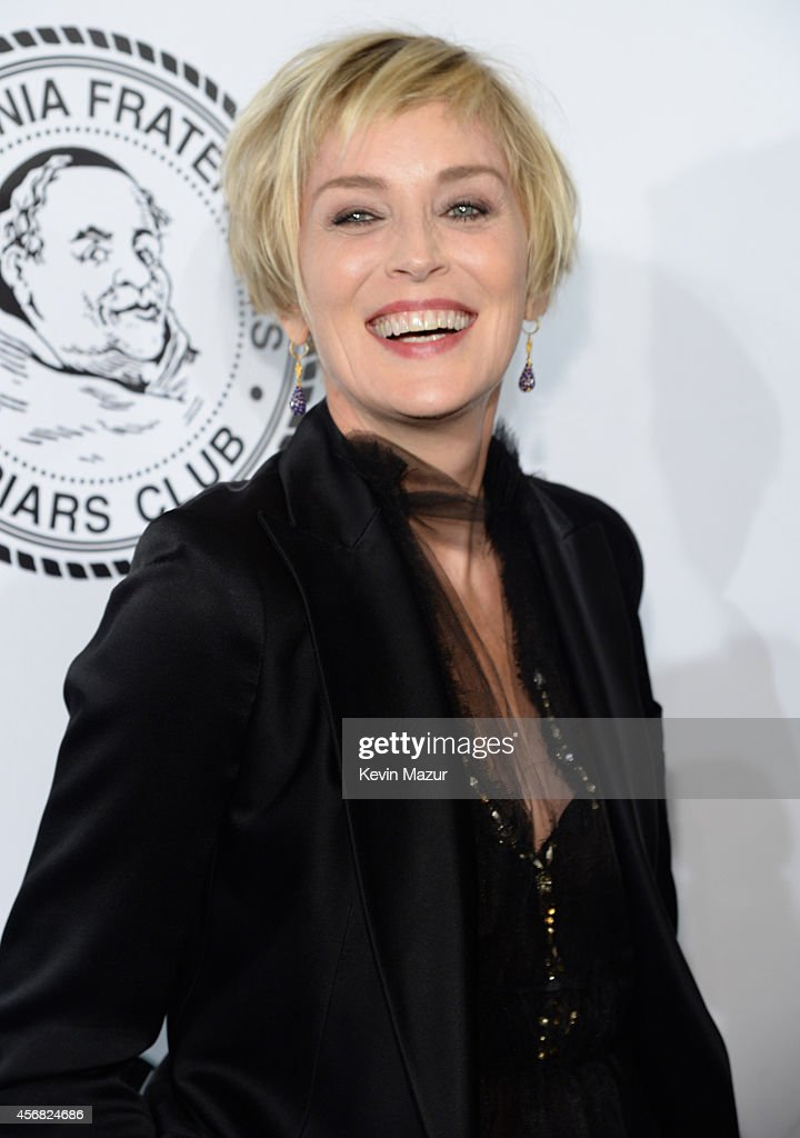 <a gi-track='captionPersonalityLinkClicked' href=/galleries/search?phrase=Sharon+Stone&family=editorial&specificpeople=156409 ng-click='$event.stopPropagation()'>Sharon Stone</a> attends the Friars Foundation Gala honoring Robert De Niro and Carlos Slim at The Waldorf=Astoria on October 7, 2014 in New York City.