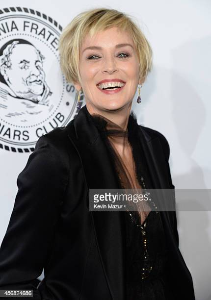 Sharon Stone attends the Friars Foundation Gala honoring Robert De Niro and Carlos Slim at The Waldorf=Astoria on October 7 2014 in New York City