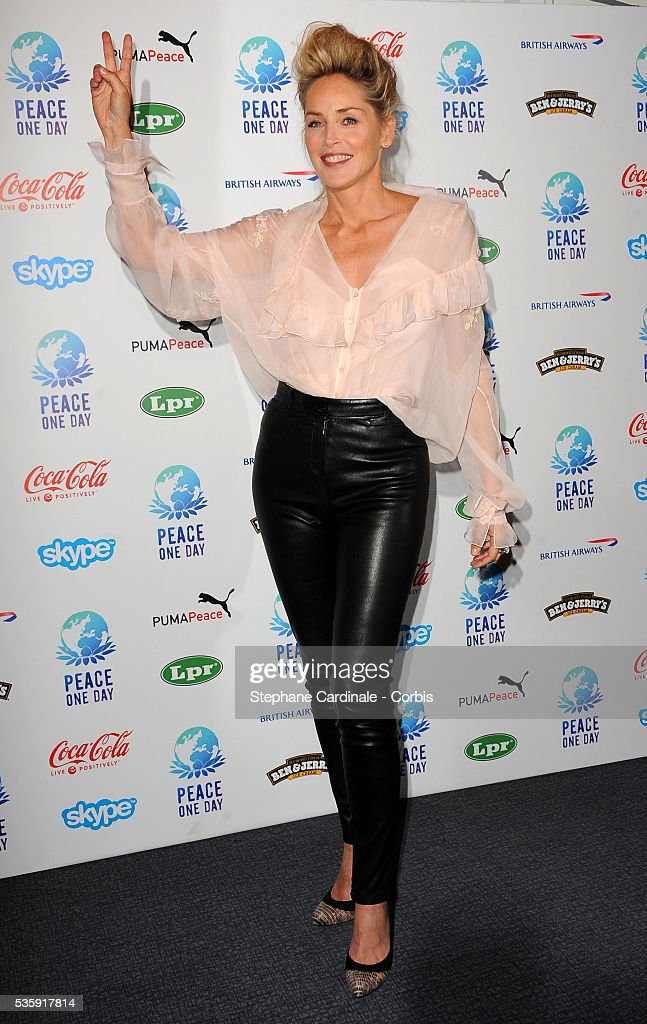 Sharon Stone attends the Peace One Day Celebration 2010 held at the Zenith in Paris.