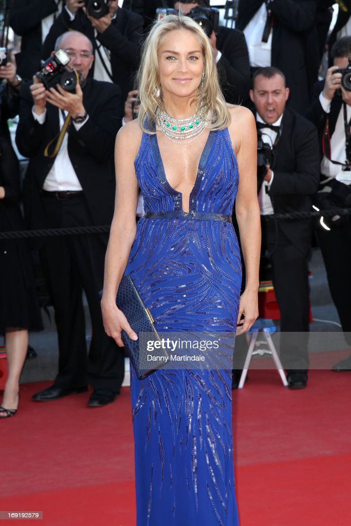 Sharon Stone attends the Premiere of 'Behind the Candelabra' during the 66th Annual Cannes Film Festival at Palais des Festivals on May 21, 2013 in Cannes, France.