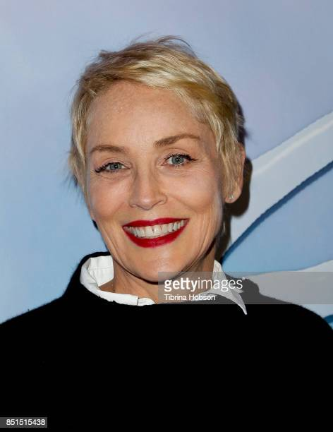 Sharon Stone attends the premiere of 'SPF18' at University High School on September 21 2017 in Los Angeles California
