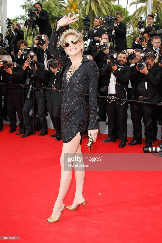 <a gi-track='captionPersonalityLinkClicked' href=/galleries/search?phrase=Sharon+Stone&family=editorial&specificpeople=156409 ng-click='$event.stopPropagation()'>Sharon Stone</a> attends the Premiere of 'The Search' at the 67th Annual Cannes Film Festival on May 21, 2014 in Cannes, France.