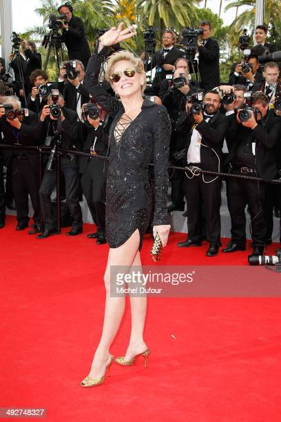 Sharon Stone attends the Premiere of 'The Search' at the 67th Annual Cannes Film Festival on May 21 2014 in Cannes France
