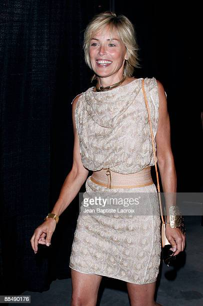 Sharon Stone attends the 'RockNReel' 2009 presented by CedarsSinai Medical Center at Culver Studios on June 14 2009 in Culver City California