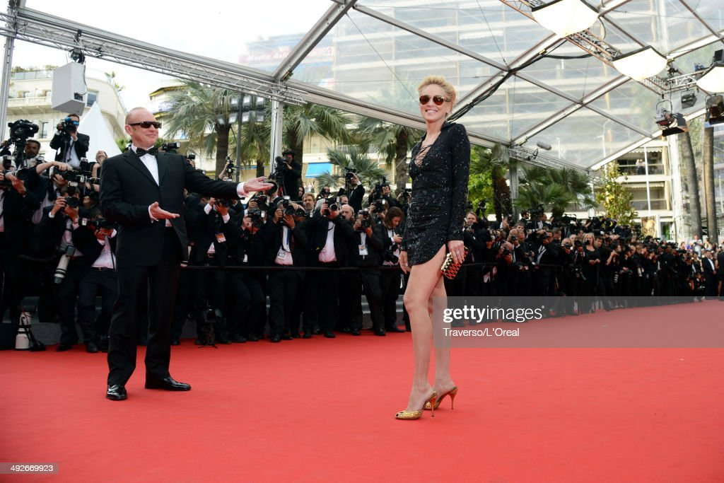 <a gi-track='captionPersonalityLinkClicked' href=/galleries/search?phrase=Sharon+Stone&family=editorial&specificpeople=156409 ng-click='$event.stopPropagation()'>Sharon Stone</a> attends 'The Search' premiere during the 67th Annual Cannes Film Festival on May 21, 2014 in Cannes, France.