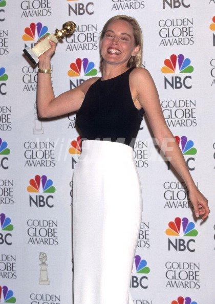 Sharon Stone during 1996 Golden Globe Awards at Beverly