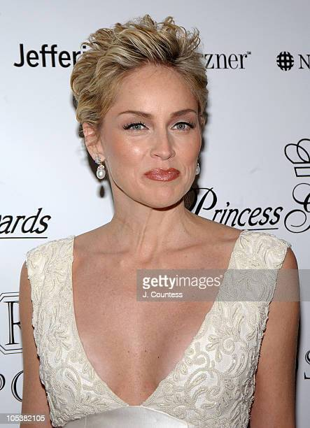 Sharon Stone during 2004 Princess Grace Awards Gala Arrivals at Cipriani's in New York City New York United States