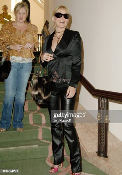 Sharon Stone during 3rd Annual 'Hollywood Bag Ladies' Lupus Luncheon Arrivals at Beverly Hills Hotel in Beverly Hills California United States