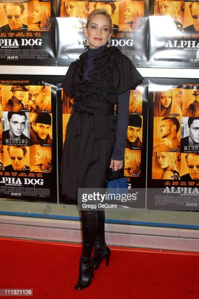 Sharon Stone during 'Alpha Dog' Los Angeles Premiere Arrivals at ArcLight Theatre in Hollywood California United States