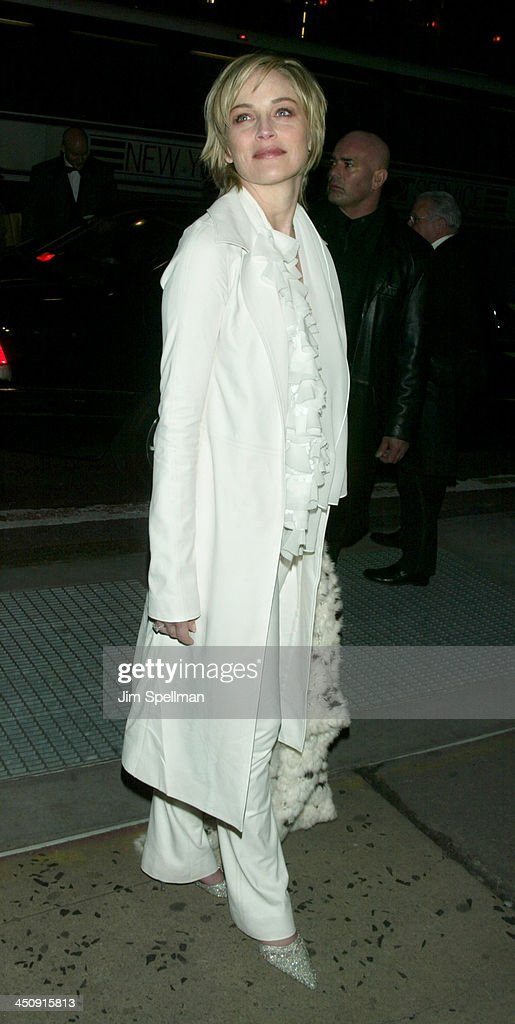 Sharon Stone during amfAR Benefit Evening Honoring Richard Gere Lorne Michaels and Anna Wintour Arrivals at Cipriani's 42nd St in New York City New...