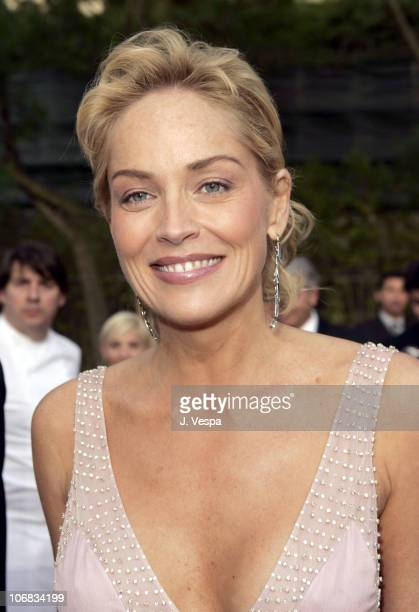 Sharon Stone during amfAR 'Cinema Against AIDS' Gala Presented by Miramax Films Palisades Pictures and Quintessentially Red Carpet at Le Moulins de...