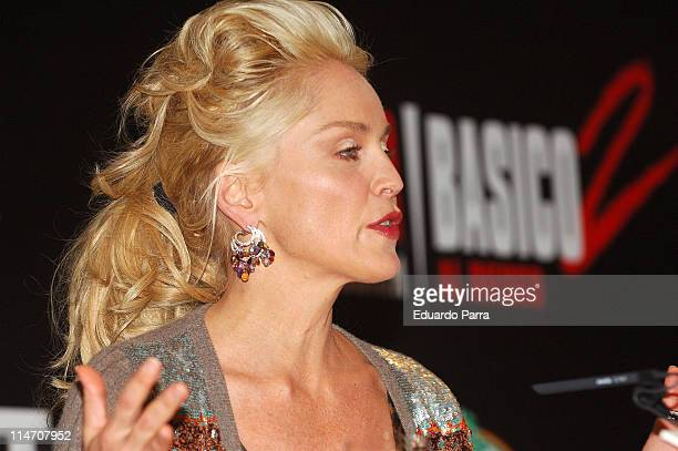 Sharon Stone during 'Basic Instinct II Risk Addiction' Madrid Press Conference at Villa Magna Hotel in Madrid Spain