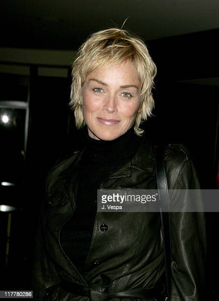 Sharon Stone during Departures Magazine Celebrates Its Los Angeles Issue at The Argyle Hotel in West Hollywood California United States