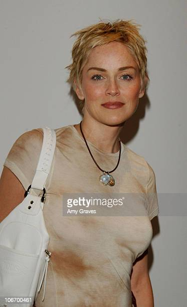 Sharon Stone during James Perse Store Opening in West Hollywood California United States