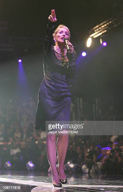 Sharon Stone during Macy's Passport Gala 2006 Show at Barker Hanger in Santa Monica California United States