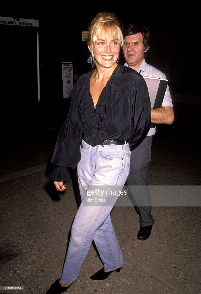 <a gi-track='captionPersonalityLinkClicked' href=/galleries/search?phrase=Sharon+Stone&family=editorial&specificpeople=156409 ng-click='$event.stopPropagation()'>Sharon Stone</a> during 'Postcards From the Edge' Los Angeles Premiere at Cineplex Odeon Century Plaza Cinemas in Los Angeles, California, United States.