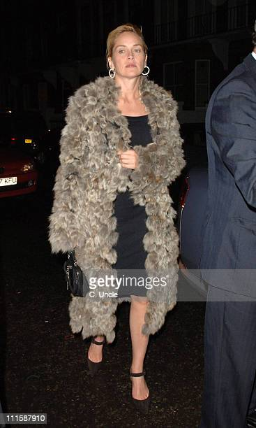 Sharon Stone during Sharon Stone Sighting at The Cipriani Restaurant In London March 14 2006 at Cipriani Restaurant in London Great Britain