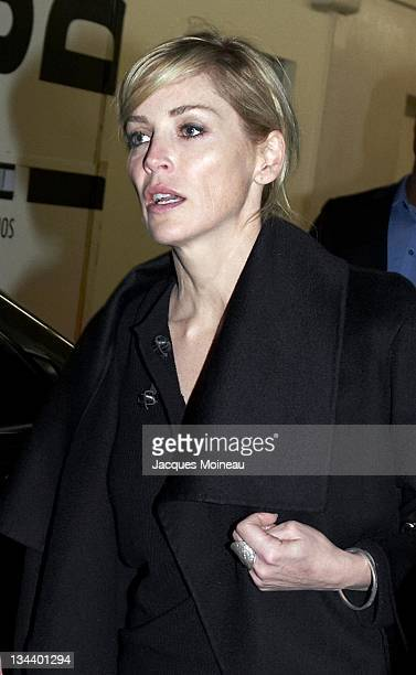 Sharon Stone during Sharon Stone Sighting in Paris February 16 2007 in Paris France