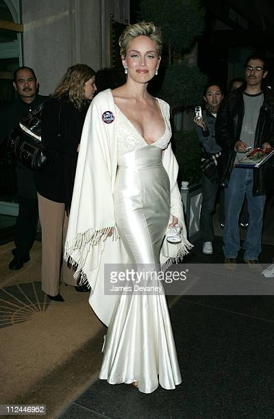 Sharon Stone during Sharon Stone Sighting October 27 2004 at Upper East Side in New York City New York United States
