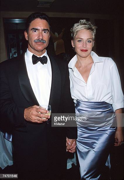 Sharon Stone husband Phil Bronstein during The 70th Annual Academy Awards Elton John AIDS Foundation Party in Beverly Hills CA