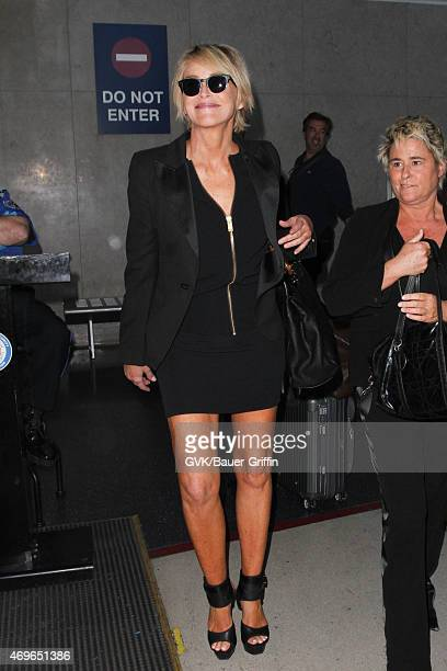 Sharon Stone is seen at LAX on April 13 2015 in Los Angeles California