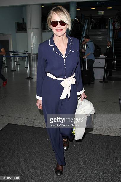 Sharon Stone is seen at LAX on November 18 2016 in Los Angeles California