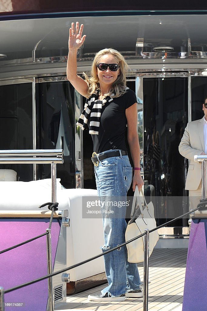 Sharon Stone is seen during The 66th Annual Cannes Film Festival on May 21, 2013 in Cannes, France.