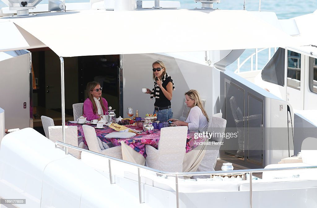 Sharon Stone is seen during the The 66th Annual Cannes Film Festival on May 21, 2013 in Cannes, France.